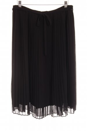 Noa Noa Pleated Skirt black elegant