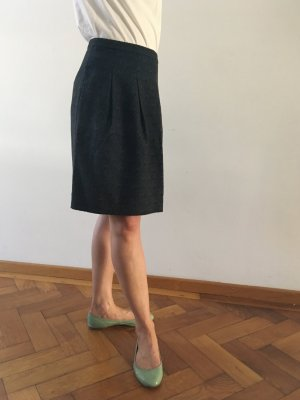 Noa Noa Tulip Skirt petrol-black synthetic fibre