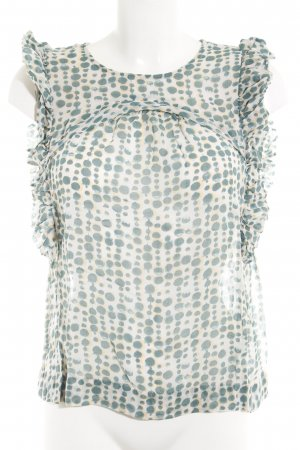 Noa Noa Frill Top cadet blue-light grey animal pattern casual look