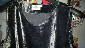 Noa Noa Samt Kleid Tunika Gr.40/XL 100% Seide grau Vintage