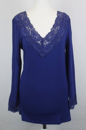 NOA NOA Shirt Longsleeve Spitze  Gr. L royal dark blue NEU