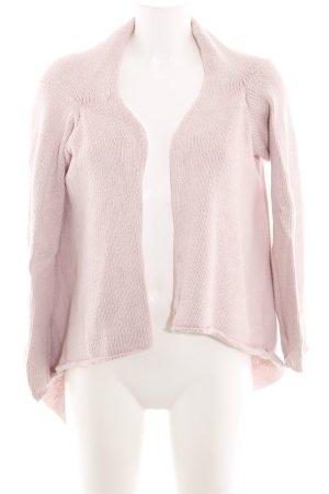 Noa Noa Strick Cardigan pink Zopfmuster Casual-Look