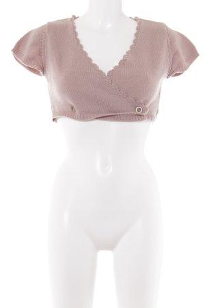 Noa Noa Bolero lavorato a maglia rosa antico stile casual