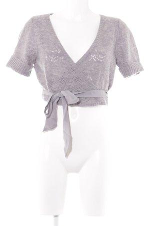 Noa Noa Bolero lavorato a maglia grigio modello web stile casual