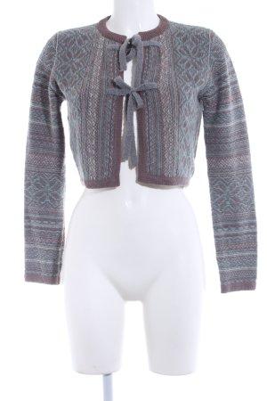 Noa Noa Strickbolero graugrün-blasslila Ethnomuster Street-Fashion-Look