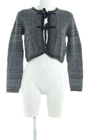 Noa Noa Boléro en tricot gris clair-gris motif abstrait style décontracté