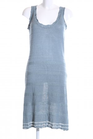 Noa Noa Strickkleid blau-silberfarben Casual-Look