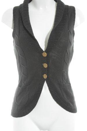 Noa Noa Gilet tricoté noir torsades style classique