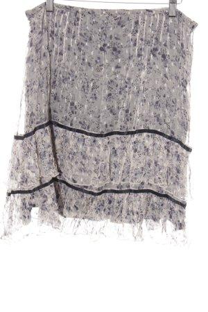 Noa Noa Gelaagde rok zwart-beige bloemenprint casual uitstraling