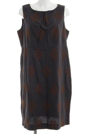 Noa Noa Trägerkleid braun-bronzefarben grafisches Muster Casual-Look