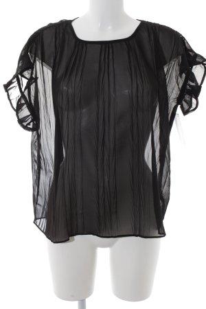 Noa Noa Transparenz-Bluse schwarz Elegant