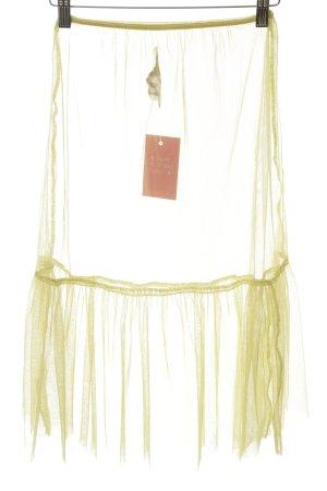3767b42bd Noa Noa Falda de tul amarillo pálido look transparente