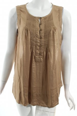 Noa Noa Tunika Bluse Top 38 40 M goldfarben Gold Metallic  boho hippie