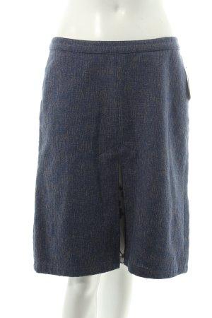 Noa Noa Falda Tweed azul-beige moteado estilo sencillo
