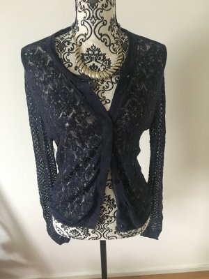 Noa Noa Cardigan all'uncinetto blu scuro