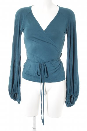 Noa Noa Wraparound Blouse cadet blue casual look