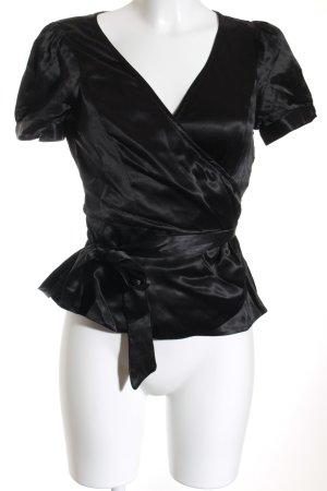 Noa Noa Wickel-Bluse schwarz klassischer Stil