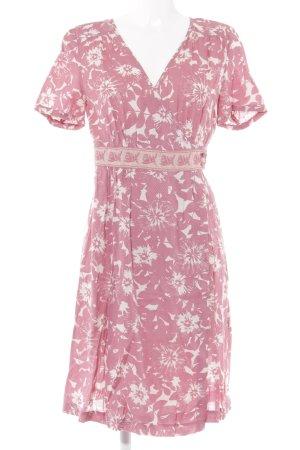 Noa Noa Robe portefeuille rose-crème motif floral Look de plage