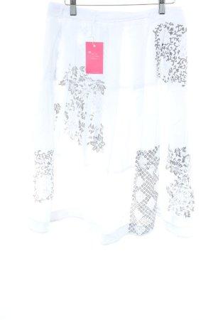 Noa Noa Falda cruzada blanco puro-gris Mezcla de patrones look Street-Style