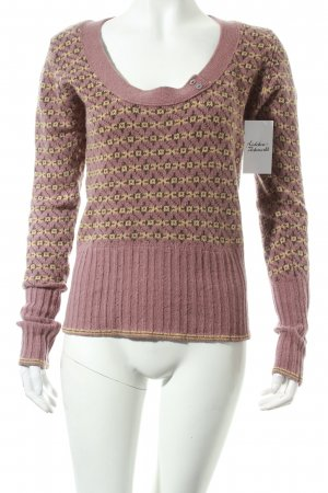 Noa Noa Wollpullover abstraktes Muster Casual-Look