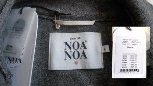 NOA NOA Wollwalk Mantel Gr. L grau mit aufwändigen Details