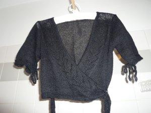 Noa Noa Cache-cœur en tricot noir laine