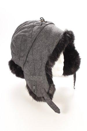 Nobis Lapplandmütze grau-schwarz klassischer Stil