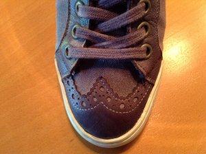 """""""Nobrand"""" Canvas Sneaker mit Leder in Farbe Pflaume Gr. 36 2x getragen"""