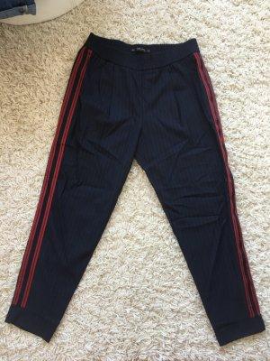 Zara Pantalon rouge brique-bleu