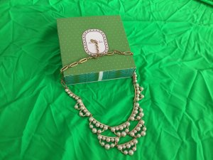 Stella & Dot Collier Necklace white-gold-colored