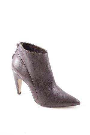 Noe Ankle Boots dunkelgrün-goldfarben Elegant