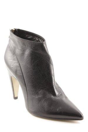 Noe Reißverschluss-Stiefeletten schwarz extravaganter Stil