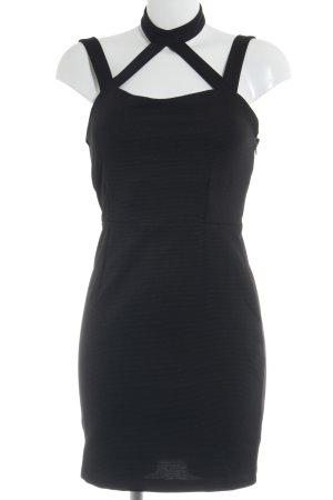 Noisy May Abendkleid schwarz Streifenmuster Elegant