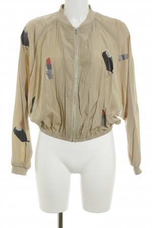 Noisy May Blouson beige Motivdruck Comic-Look