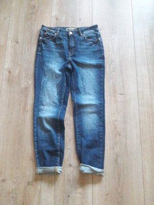 Noisy May Jeans boyfriend bleu foncé