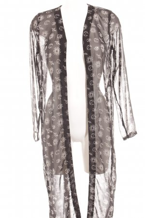 Noisy May Cardigan schwarz-weiß Motivdruck Boho-Look