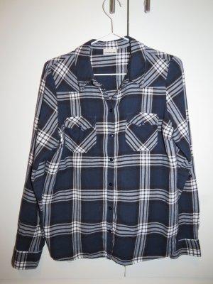 Noisy may Hemd-Bluse blau-weiß, kariert