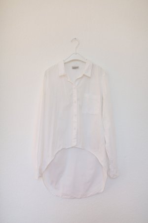 Noisy May Hemd Bluse Cropped Vintage Look weiß Gr. M