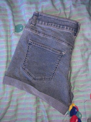 Noisy May Short en jean bleu