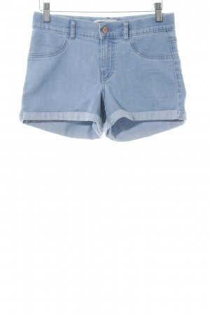 Noisy May Hot Pants hellblau Jeans-Optik