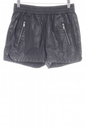 Noisy May Hot Pants schwarz Biker-Look