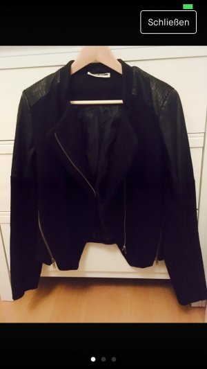 Noisy May Veste motard noir faux cuir