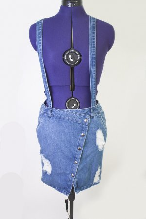 Noisy May Jeans-Latzrock asymmetrisch