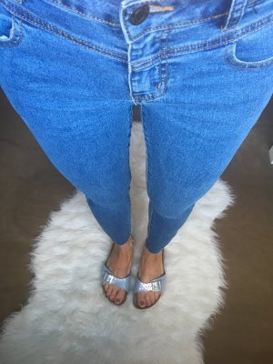 Noisy may Jeans Mittelblau Skinny