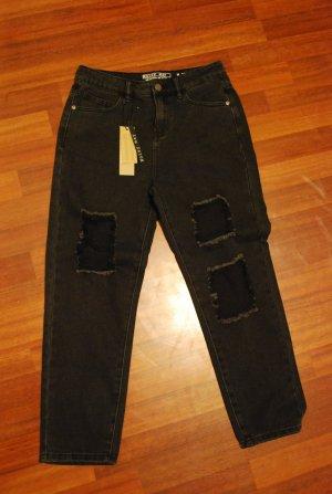 Noisy May Jeans Straight Leg mit Rissen W26/L30