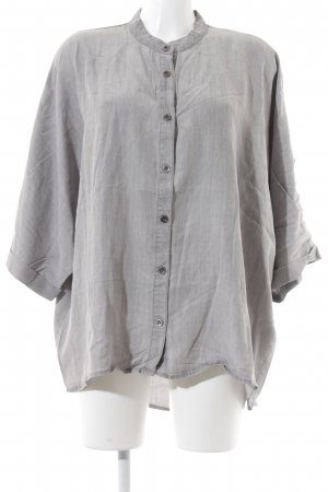 Noisy May Jeansbluse grau meliert Casual-Look