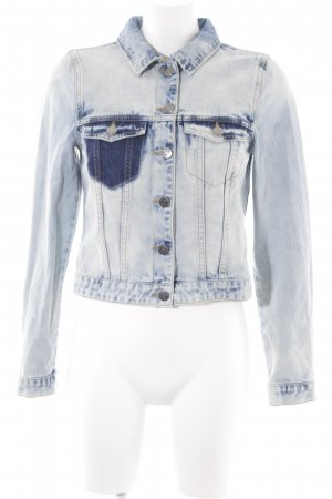 Noisy May Jeansjacke blau Bleached-Optik