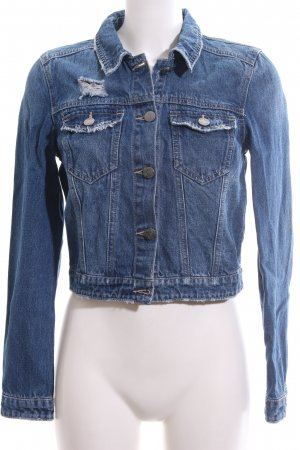 Noisy May Jeansjacke blau Casual-Look