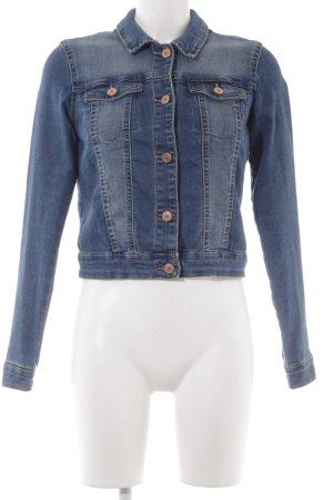 Noisy May Veste en jean bleu acier style décontracté