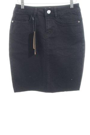 "Noisy May Jeansrock ""Lexi Short Skirt Raw Edge"" schwarz"